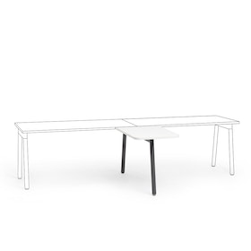 "Series A Return Add On for 57"" White Single Desk, Charcoal Legs,White,hi-res"