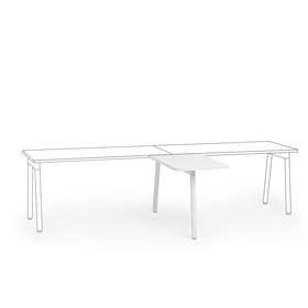 "Series A Return Add On for 57"" White Single Desk, White Legs,White,hi-res"