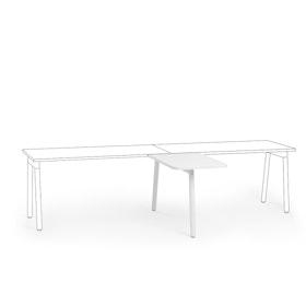 "Series A Return Add On for 57"" White Single Desk, White Legs,White,hi-res"