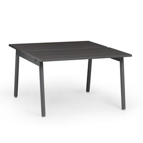 "Series A Double Desk for 2, Dark Oak, 47"", Charcoal Legs,Dark Oak,hi-res"