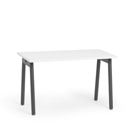 "Series A Single Desk for 1, White, 47"", Charcoal Legs,White,hi-res"