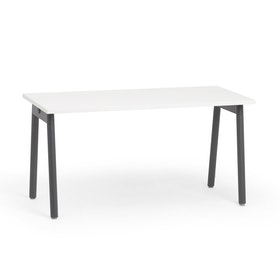 "Series A Single Desk for 1, White, 57"", Charcoal Legs,White,hi-res"