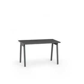 "Series A Single Desk for 1, Dark Oak, 47"", Charcoal Legs,Dark Oak,hi-res"