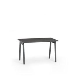 "Series A Single Desk for 1, Dark Oak, 47"", Charcoal Legs,Dark Oak,hi-res"
