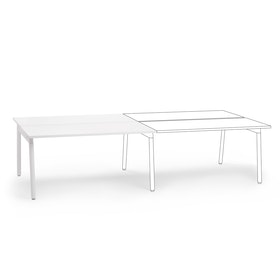 "Series A Double Desk Add On, White, 57"", White Legs,White,hi-res"