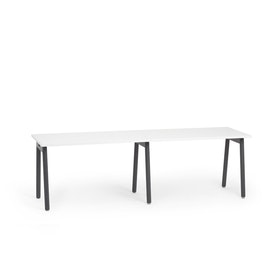 "Series A Single Desk for 2, White, 47"", Charcoal Legs,White,hi-res"