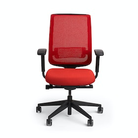 Red Reply Task Chair, Adjustable Arms, Adjustable Lumbar,Red,hi-res