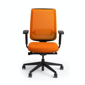Orange Reply Task Chair, Adjustable Arms, Adjustable Lumbar,Orange,hi-res