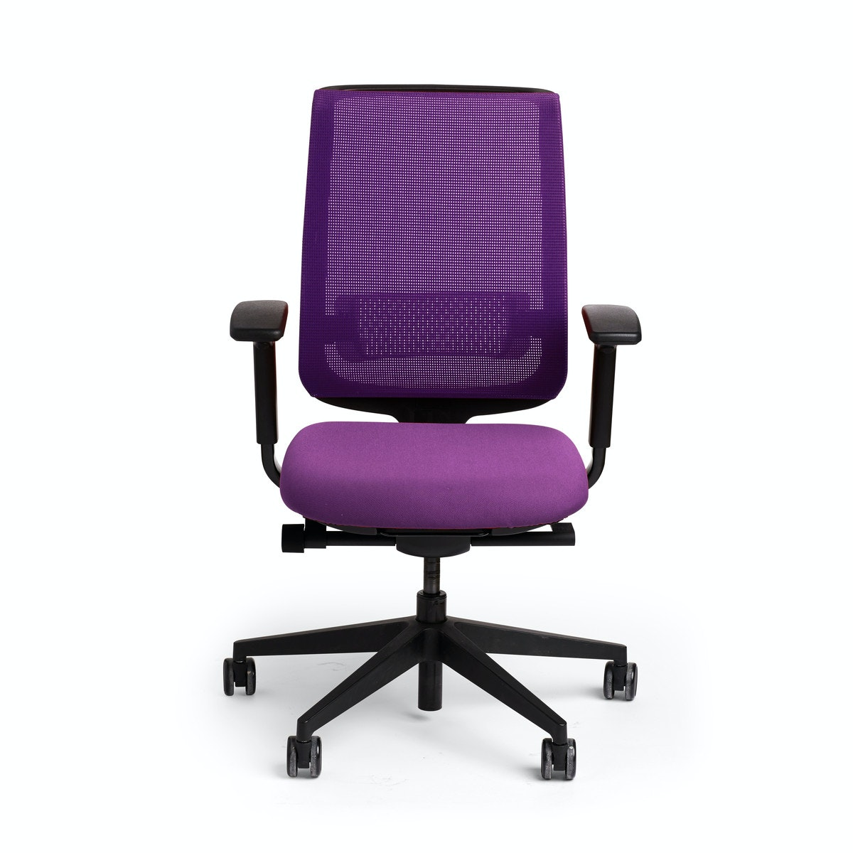 Purple Reply Task Chair, Adjustable Arms, Adjustable Lumbar,Purple,hi Res  ...