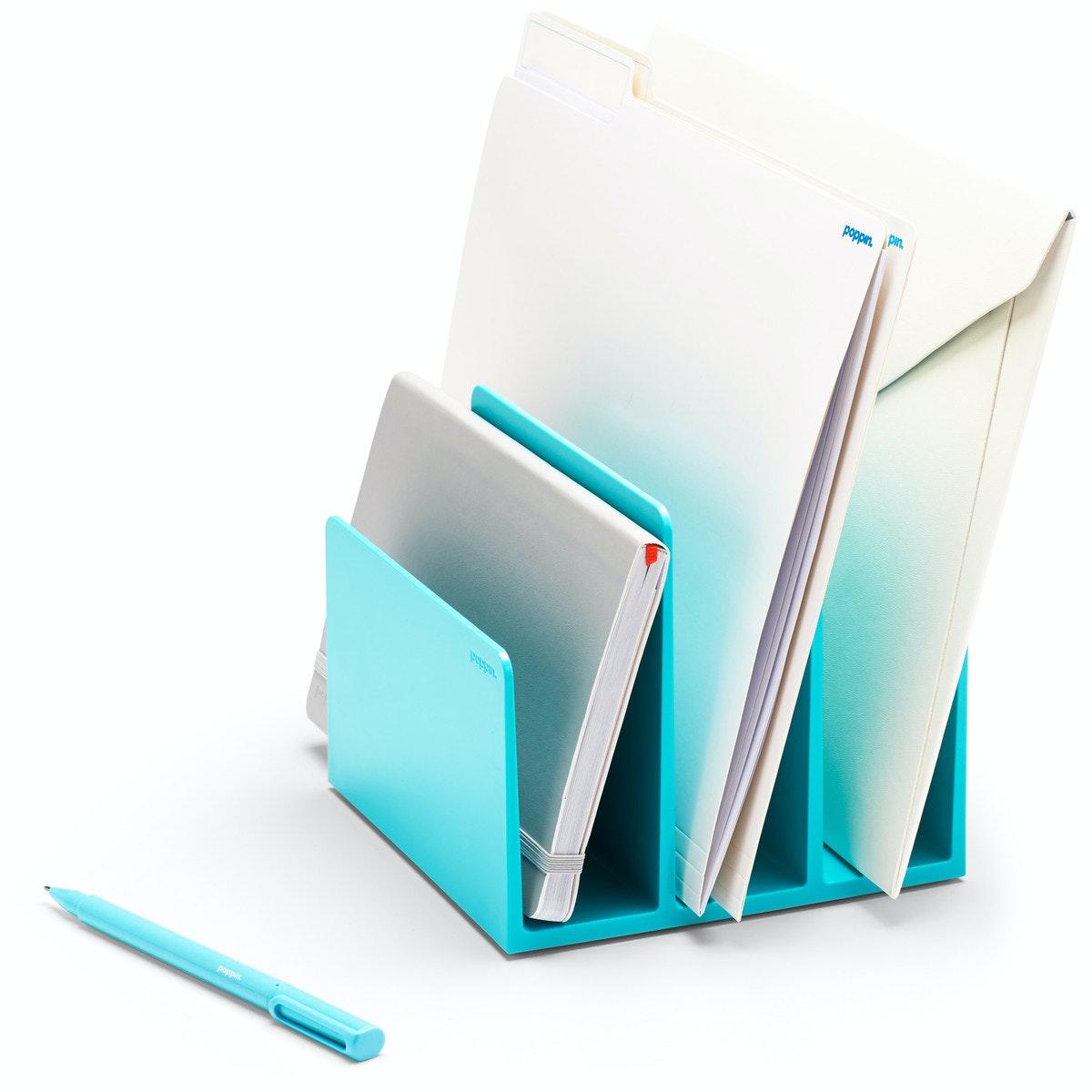 Delicieux Aqua Fin File Sorter,Aqua,hi Res ...
