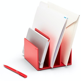 Red Fin File Sorter,Red,hi-res