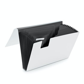 Dark Gray Accordion File,Dark Gray,hi-res