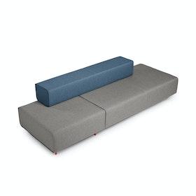 Gray + Dark Blue Block Party Lounge Shimmy,Gray,hi-res