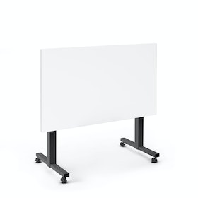 """Irons Flip Top Training Table, White, 47"""", Charcoal Legs,White,hi-res"""