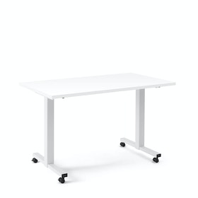 "Irons Flip Top Training Table, White, 57"", White Legs,White,hi-res"