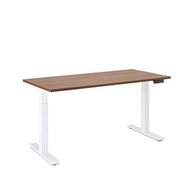 "Loft Single Desk, Walnut, 57"", White Legs,Walnut,hi-res"