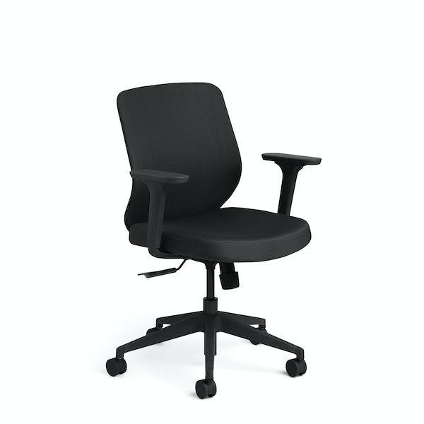 Black Max Task Chair, Mid Back, Black Frame,,hi-res