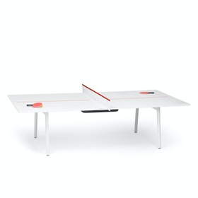 White + Brick Series A Ping-Pong Conference Table,Brick,hi-res