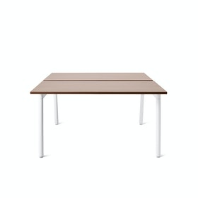 Series A Double Desk For 2, White Legs
