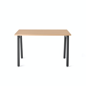 "Series A Single Desk for 1, Natural Oak, 47"", Charcoal Legs,Natural Oak,hi-res"