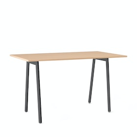 "Series A Standing Table, Natural Oak, 72x36"", Charcoal Legs,Natural Oak,hi-res"
