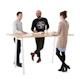"Series A Standing Table, Natural Oak, 72x36"", White Legs,Natural Oak,hi-res"
