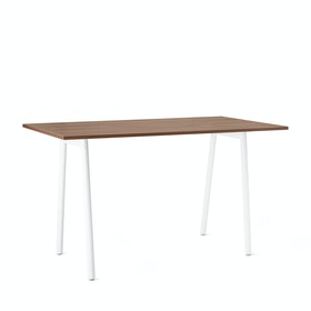 "Series A Standing Table, Walnut, 72x36"", White Legs,Walnut,hi-res"