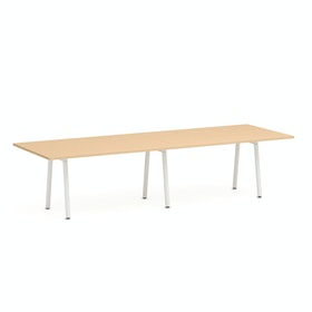 "Series A Conference Table, Natural Oak, 124x42"", White Legs,Natural Oak,hi-res"