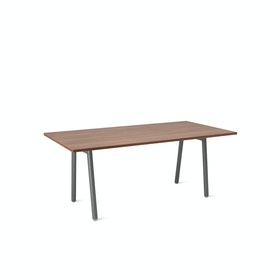 "Series A Conference Table, Walnut, 72x36"", Charcoal Legs,Walnut,hi-res"