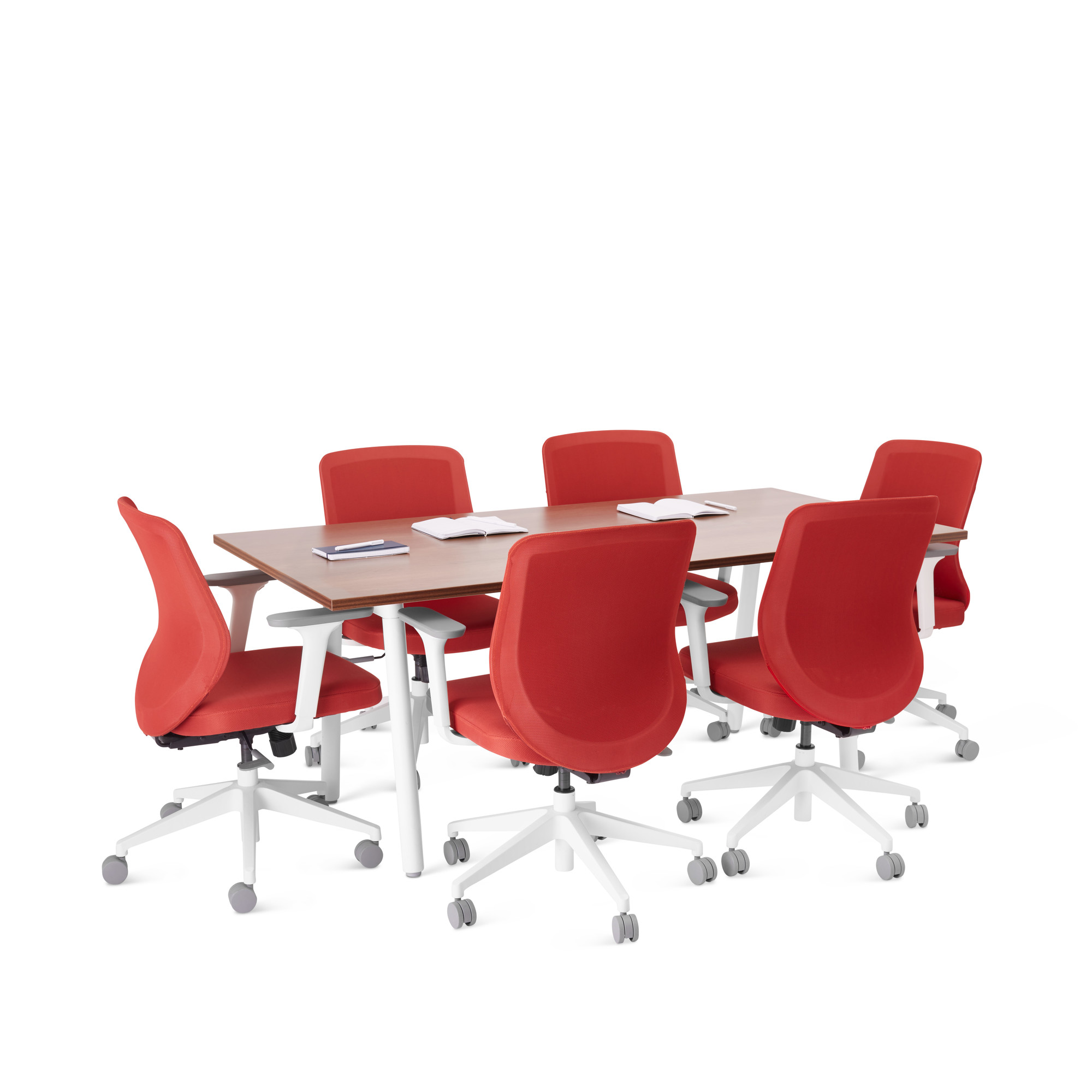 Series A Table X Walnut White Modern Office Furniture Poppin - 72 x 36 conference table