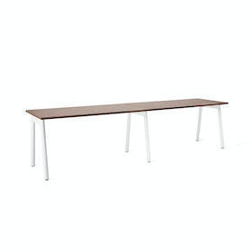 "Series A Single Desk Add On, Walnut, 57"", White Legs,Walnut,hi-res"