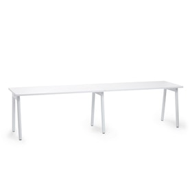 "Series A Single Desk Add On, White, 57"", White Legs,White,hi-res"