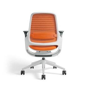 Orange Steelcase Series 1 Chair, White Fame