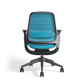 Pool Blue Steelcase Series 1 Chair, Black Frame,Pool Blue,hi-res