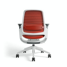 Red Steelcase Series 1 Chair, White Frame,Red,hi-res