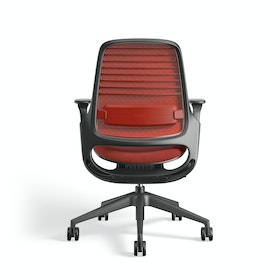 Red Steelcase Series 1 Chair, Black Frame,Red,hi-res