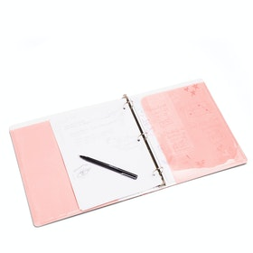 "Blush 1"" Pocket Binder,Blush,hi-res"