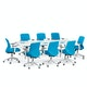 """Series A Conference Table, White, 96x42"""", White Legs,White,hi-res"""