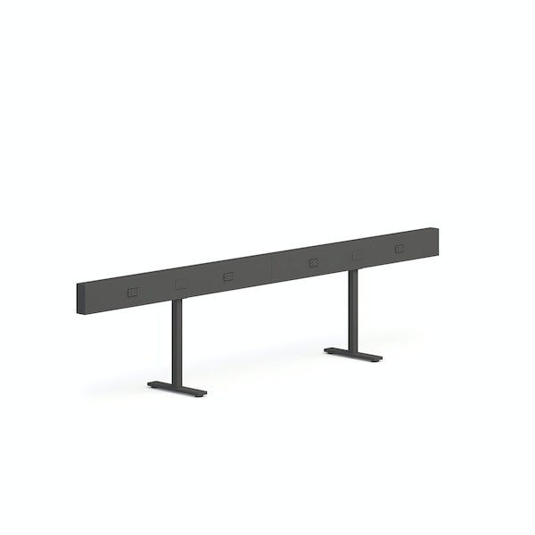"Charcoal Boom Power Rail for 4, 50"",Charcoal,hi-res"