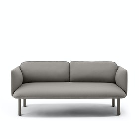 Gray QT Lounge Low Sofa