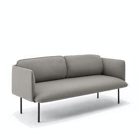 Black QT Lounge Low Sofa Metal Legs, Set of 4