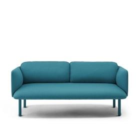 Teal QT Lounge Low Sofa,Teal,hi-res
