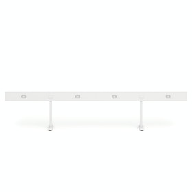 "White Boom Power Rail for 4, 60"",White,hi-res"