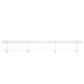 "White Boom Power Rail for 6, 60"",White,hi-res"