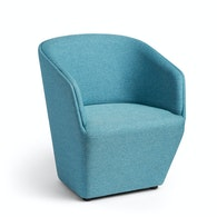Blue Pitch Club Chair,Blue,hi-res