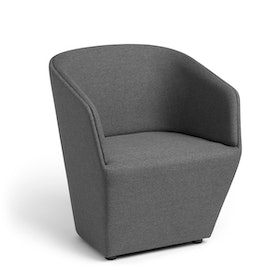 Dark Gray Pitch Club Chair,Gray,hi-res