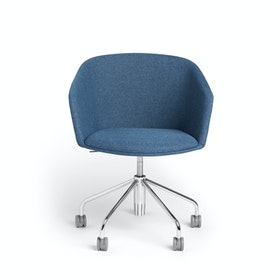 Dark Blue Pitch Rolling Chair,Dark Blue,hi-res