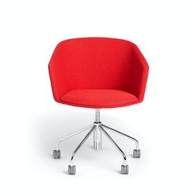 Red Pitch Rolling Chair,Red,hi-res