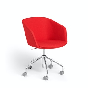 Red Pitch Meeting Chair,Red,hi-res