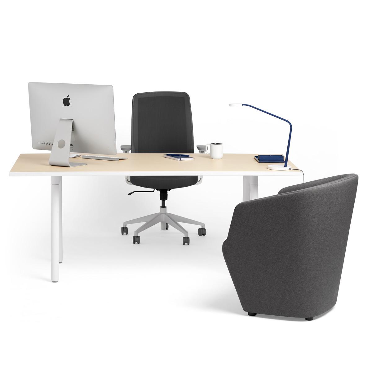 Images Series A Executive Desk Light Oak
